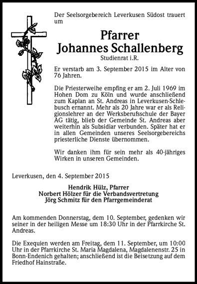 Johannes Schallenberg